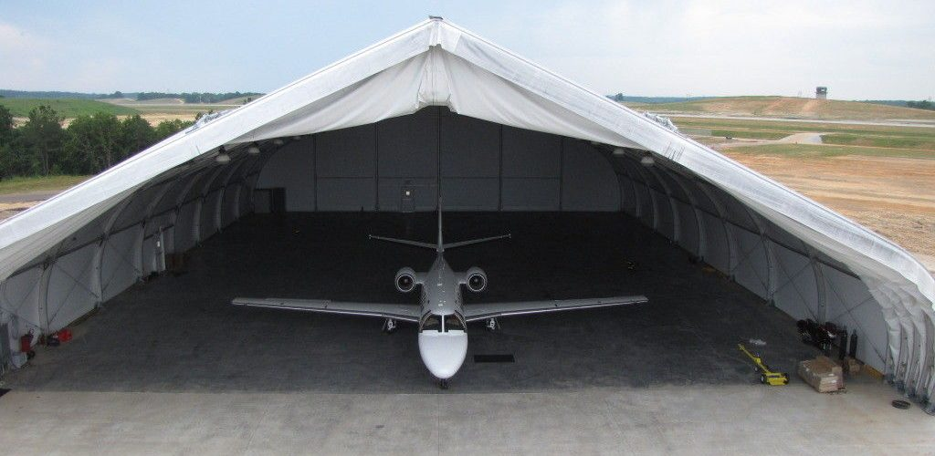 özel uçak hangar çadırı